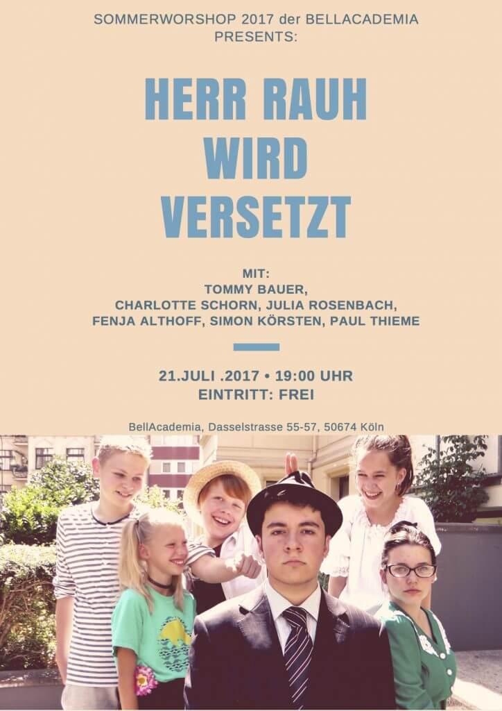 Sommerworkshop, Schauspielschule, BellAcademia, Köln, 2017, Zürich